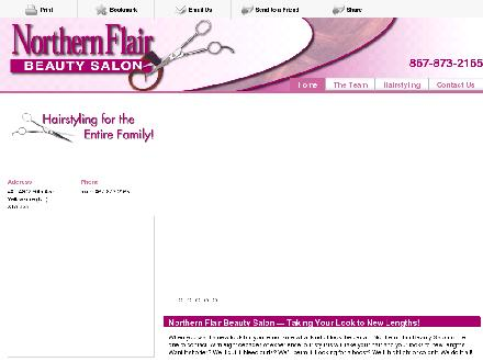 Northern Flair Beauty Salon (867-873-2165) - Onglet de site Web - http://northernflairbeautysalon.ca