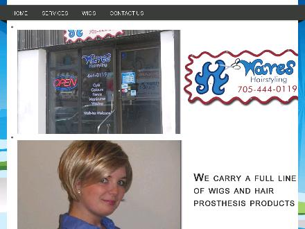 Waves Hairstyling (705-444-0119) - Onglet de site Web - http://www.waveshairsalon.ca