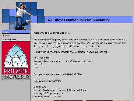 Priemer Thomas Dr Professional Corporation (506-536-2788) - Website thumbnail - http://www.drpriemer.com