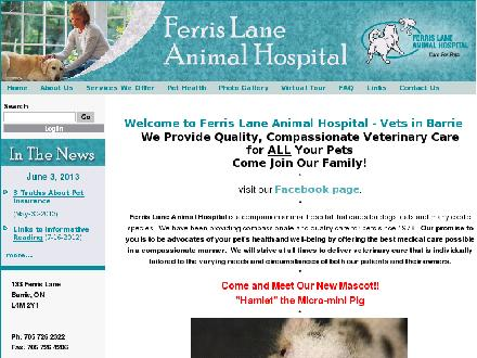 Ferris Lane Animal Hospital (705-999-3932) - Website thumbnail - http://www.ferrislaneanimalhospital.com