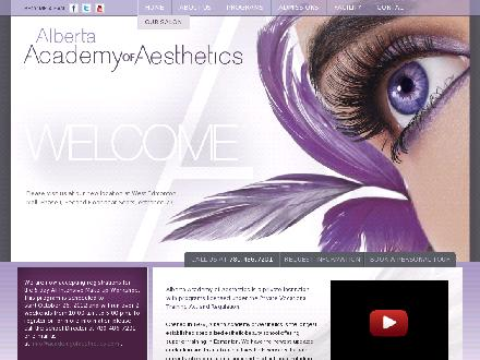 Alberta Academy Of Aesthetics (780-486-7201) - Onglet de site Web - http://www.academyofaesthetics.com