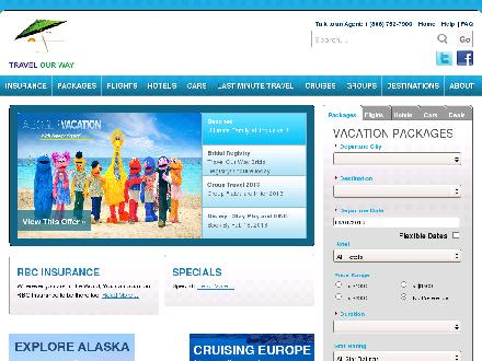Travel Our Way Inc (902-752-7900) - Onglet de site Web - http://www.travelourway.com