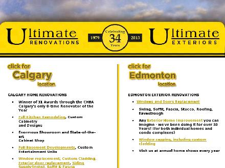 Ultimate Renovations (403-213-9176) - Onglet de site Web - http://www.ultimaterenovations.com