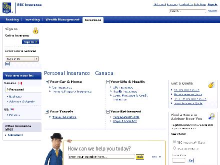 RBC Insurance (403-292-8409) - Website thumbnail - http://www.rbcinsurance.com