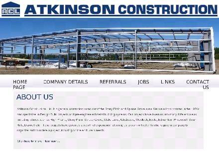 Atkinson Construction (780-963-3388) - Website thumbnail - http://www.atkinsonconstruction.ca
