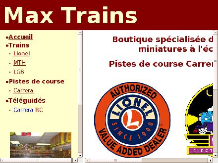 Max Trains (514-322-8626) - Website thumbnail - http://www.maxtrains.com
