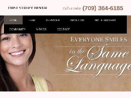 First Street Dental (1-877-534-9555) - Onglet de site Web - http://www.firststreetdental.ca