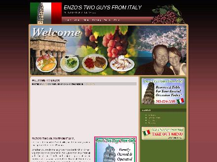 Enzo's Two Guys From Italy (905-826-5100) - Onglet de site Web - http://www.enzostwoguysfromitaly.com/