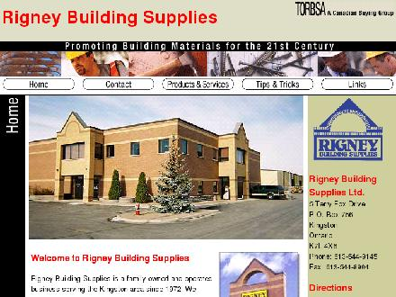 Rigney Building Supplies Ltd (613-544-9145) - Onglet de site Web - http://www.rigneybuildingsupplies.com