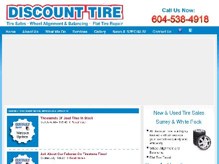 Discount Tire (604-541-4387) - Website thumbnail - http://www.discounttirebc.com