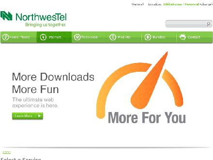 Northwestel (1-888-423-2333) - Website thumbnail - http://www.nwtel.ca/internet