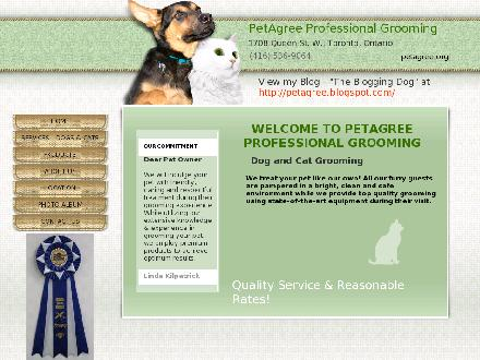 PetAgree Professional Grooming (416-536-9064) - Website thumbnail - http://www.petagree.org