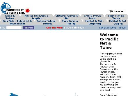 Pacific Net & Twine (604-274-7238) - Website thumbnail - http://www.pacificnetandtwine.com