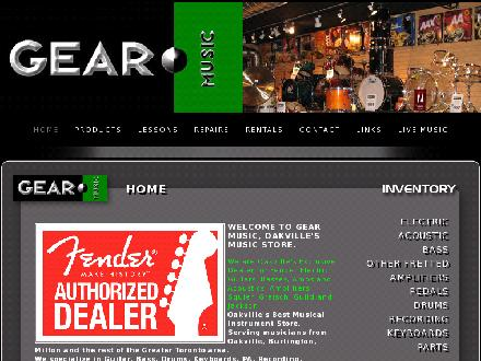 Gear Music (905-339-3515) - Onglet de site Web - http://www.gearmusic.net