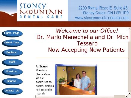 Stoney Mountain Dental Care (905-692-2273) - Website thumbnail - http://www.stoneymountaindental.com