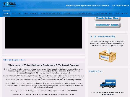 Total Delivery Systems Inc (250-382-9110) - Website thumbnail - http://www.totaldeliverysystems.com