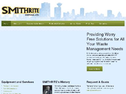 Smithrite Disposal Ltd (604-549-5033) - Website thumbnail - http://www.smithrite.com