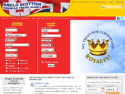 Anglo Scottish American Travel Ltd (905-458-9300) - Website thumbnail - http://www.anglo.ca