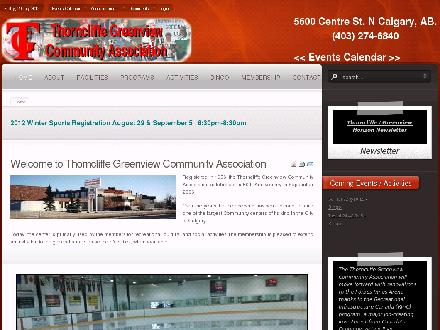 Thorncliffe Greenview Community Assoc (403-274-6840) - Website thumbnail - http://www.tgcacalgary.com