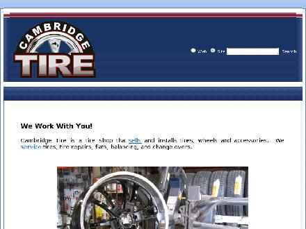 Cambridge Tire (519-740-8785) - Onglet de site Web - http://www.cambridgetire.ca
