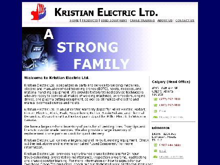 Kristian Electric Ltd (403-798-9740) - Website thumbnail - http://www.kristian.ca