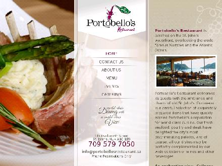 Portobello's (709-700-0983) - Onglet de site Web - http://www.portobellosrestaurant.ca