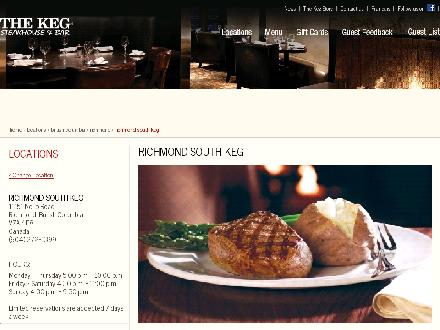 The Keg Steakhouse & Bar (604-272-1399) - Onglet de site Web - http://www.kegsteakhouse.com/en/locations/BC/richmond/richmond-south-keg/