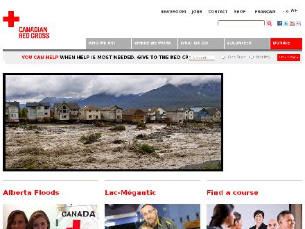Canadian Red Cross-National Office (613-740-1900) - Onglet de site Web - http://www.redcross.ca