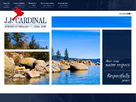 J J Cardinal Funeral Home (514-639-1511) - Onglet de site Web - http://www.jjcardinal.ca