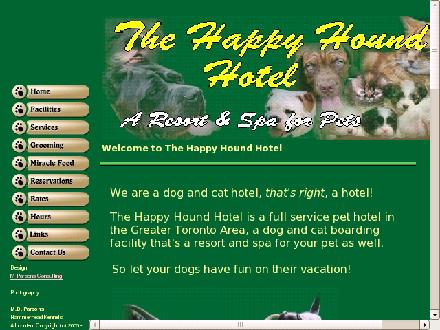 The Happy Hound Hotel (905-939-8581) - Website thumbnail - http://www.thehappyhoundhotel.net