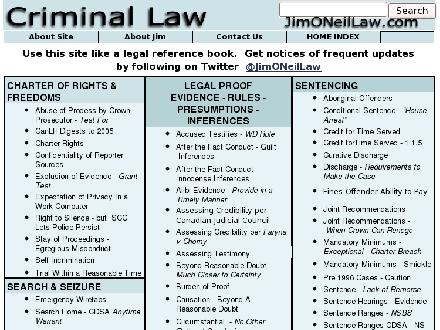 O'Neil Jim Criminal Defense Lawyer (1-855-214-5859) - Website thumbnail - http://www.jimoneillaw.com