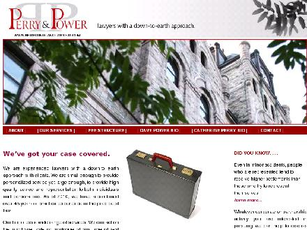 Perry & Power (709-726-6900) - Onglet de site Web - http://www.newfoundlandlawyers.com