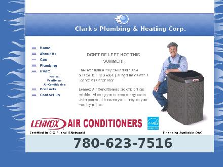Clark's Plumbing &amp; Heating Corp (780-623-6219) - Onglet de site Web - http://www.cpandh.ca