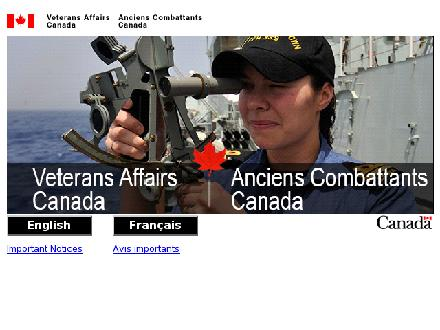 Veterans Affairs Canada (1-877-228-2250) - Onglet de site Web - http://www.vac-acc.gc.ca