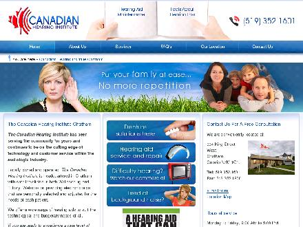 Canadian Hearing Institute (226-799-0196) - Onglet de site Web - http://www.canadianhearing.ca