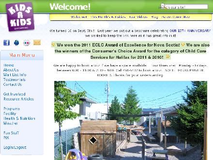 Kids R Kids Daycare & Preschool (902-704-2982) - Website thumbnail - http://www.kidsrkids.ca