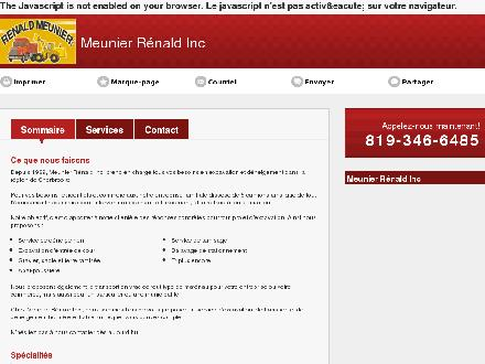 Meunier R&eacute;nald Inc (819-346-6485) - Onglet de site Web - http://meunierrenaldinc.com/