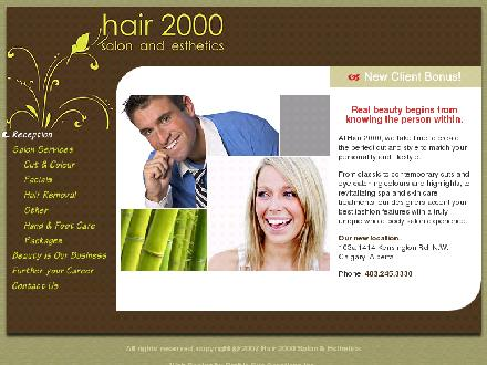 Hair 2000 Salon & Esthetics (403-245-3330) - Onglet de site Web - http://www.hair2000.ca