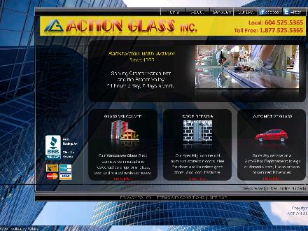 Action Glass Inc (604-525-5365) - Onglet de site Web - http://www.actionglassbc.com