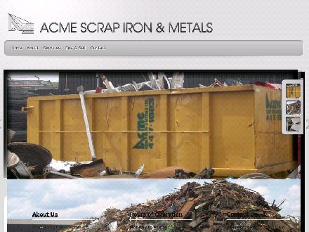 Acme Scrap Iron & Metals Ltd (780-613-0105) - Website thumbnail - http://www.acmescrapmetal.com