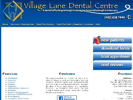 Village Lane Dental Centre (403-938-7444) - Onglet de site Web - http://www.villagelanedental.com