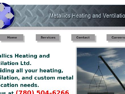 Metallics Heating &amp; Ventilation (780-504-6266) - Onglet de site Web - http://www.metallics.ca