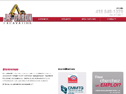 Excavation JF Caron Inc (418-840-1329) - Onglet de site Web - http://www.excavationjfcaron.com