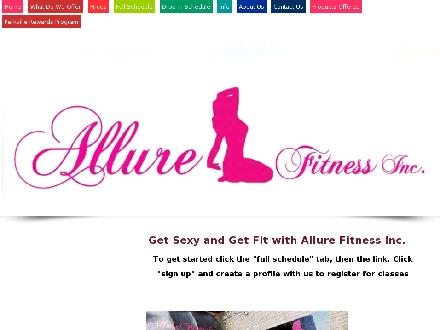 Allure Fitness Inc (905-667-0999) - Website thumbnail - http://www.allurefitnessinc.com