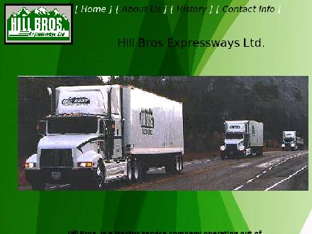 Hill Bros Expressways Ltd (403-243-6024) - Onglet de site Web - http://www.hillbros.ab.ca