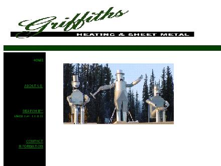 Griffiths Heating & Sheet Metal Ltd (867-667-2214) - Onglet de site Web - http://griffithsheating.co/