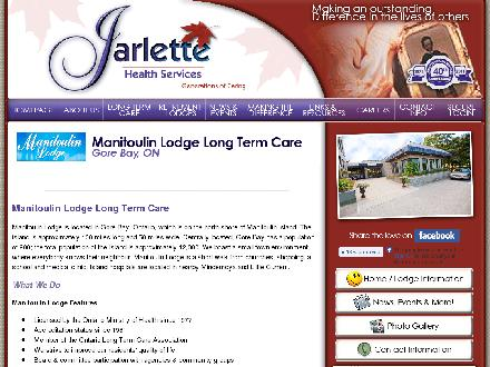 Manitoulin Lodge Nursing Home (705-282-2007) - Website thumbnail - http://www.jarlette.com/manitoulin_ltc.html