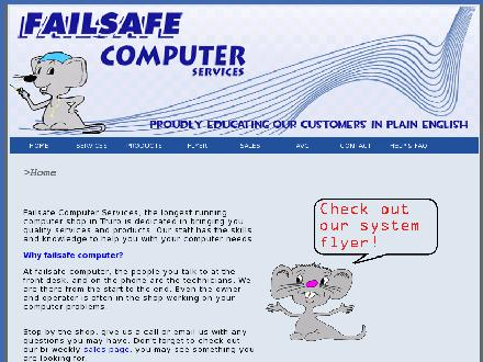 Failsafe Computer Services (902-893-2171) - Onglet de site Web - http://www.failsafe-computer.com