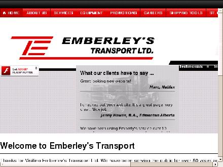 Emberley's Transport Limited (902-455-0309) - Onglet de site Web - http://www.emberleystransport.com