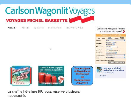 Voyages Michel Barrette (418-668-3078) - Onglet de site Web - http://www.voyagemichelbarrette.com